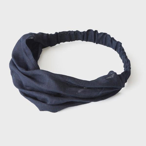 Linen Hairband (Nuit)