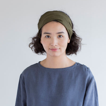 Linen Hairband (Olive)