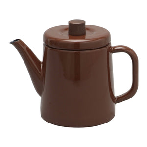 Enamel Teapot / Kettle (Brown)