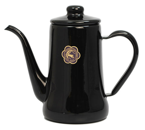 Tsuki-Usagi Enamel Coffee Pot / Kettle (Black)