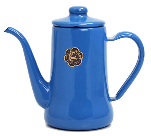 Tsuki-Usagi Enamel Coffee Pot / Kettle (Blue)