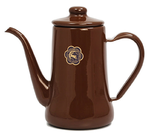 Tsuki-Usagi Enamel Coffee Pot / Kettle (Brown)