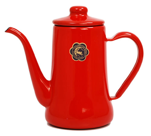 Tsuki-Usagi Enamel Coffee Pot / Kettle (Red)