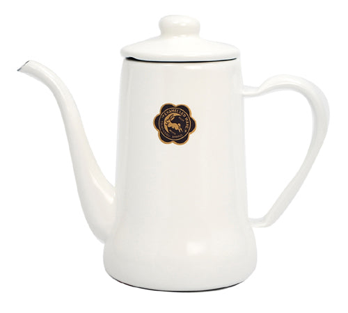 Tsuki-Usagi Enamel Coffee Pot / Kettle (White)