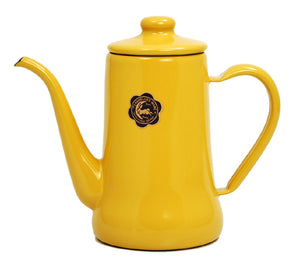 Tsuki-Usagi Enamel Coffee Pot / Kettle (Yellow)
