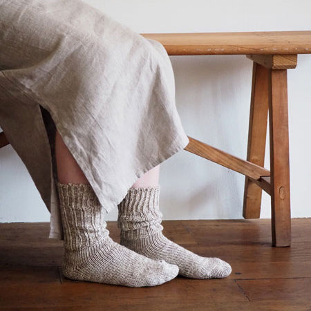Linen Cotton Mix Socks (Chere)