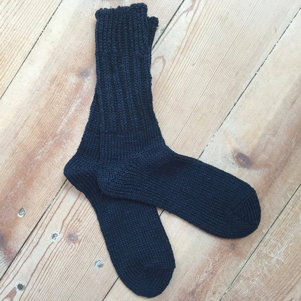 Linen Cotton Mix Socks (Ink Blue)