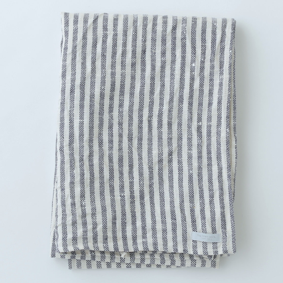 Chambray Linen Towel (Navy & White Stripe)