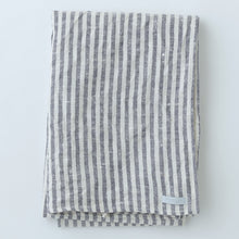 Fog Linen Chambray Towel (Navy & White Stripe)