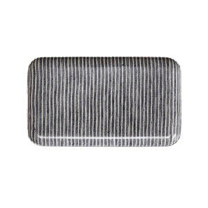 Linen Small Tray (Grey & White Stripe)