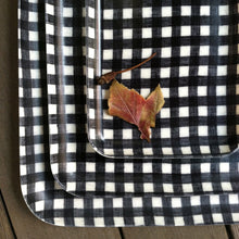 Fog Linen Medium Tray (Navy & White Check)