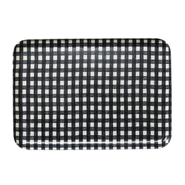 Linen Medium Tray (Navy & White Check)