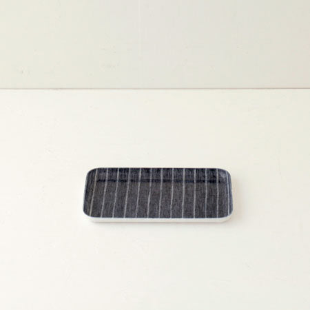 Linen Small Tray (Navy & White Stripe)