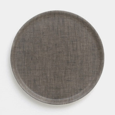 Fog Linen Round Tray (Natural)