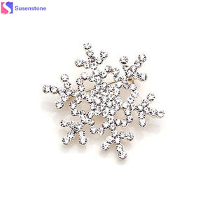 Big Snowflake Pin Crystal Brooches