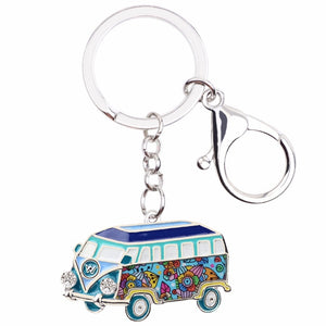 Metal Bus Handbag Key Chain Fashion Accessories