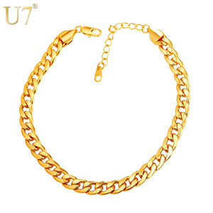 Cuban Link Foot Chain Jewelry For Women