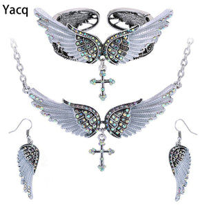 Wing Cross Jewelry Set Women Birthday Gifts