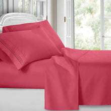 Load image into Gallery viewer, QUEEN 4 piece BED SHEET SET 1800
