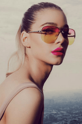 682f953b3a Muse Fade Sunglasses in Silver Pink Yellow - QUAY AUSTRALIA.   44.00. Add  to bag. Supergirl Sunglasses in White Lilac Mirror ...