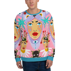 Bjork Hijoort Wolf Tears All-Over Crewneck
