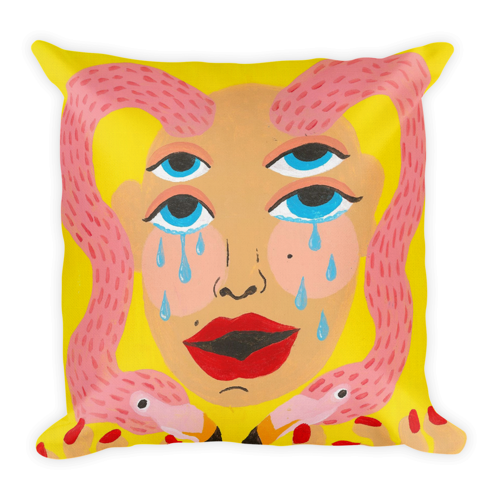 Bjork Hijoort Tears x Cry Pillow