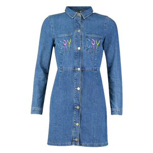 """CRY"" Double Pocket Jean Dress"