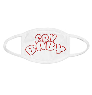 Open image in slideshow, Crybaby Face Mask (White)