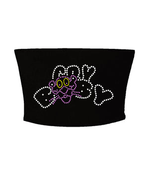 Open image in slideshow, Crybaby Panther Head Og Logo Rhinestone Tube Top