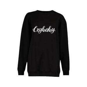 Crybaby Stitched Love Note Crewneck