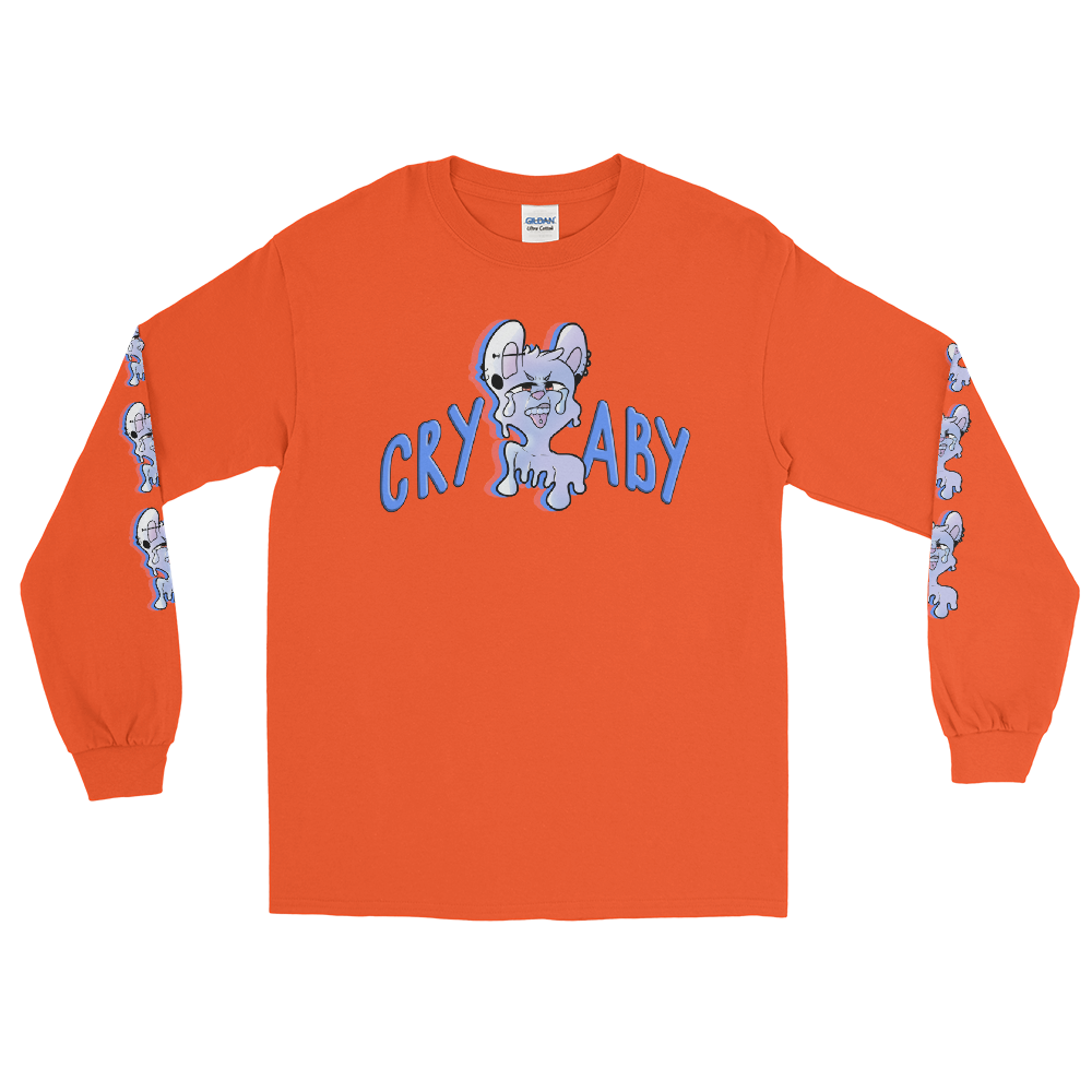 Crybaby Pierced Puppy Logo Long Sleeve T-Shirt