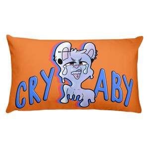 Crybaby Pierced Puppy 20 x 13 Pillow