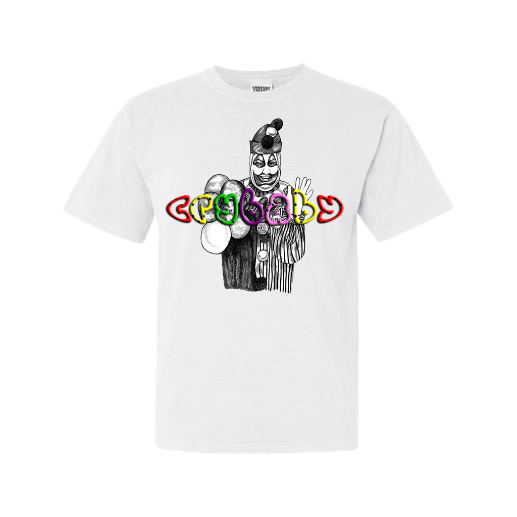 Crybaby Clown'n W/ Gacy Washed T-Shirt