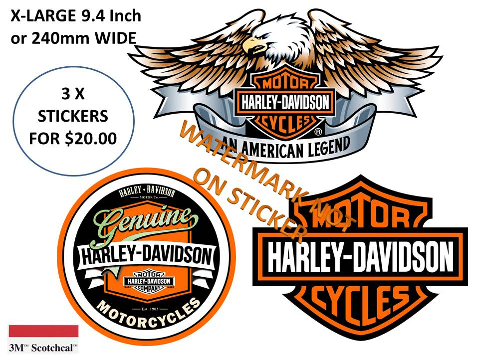 Harley Davidson set of 3 Stickers