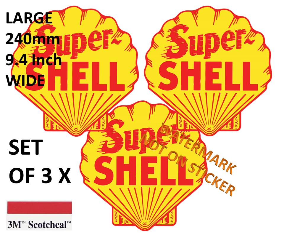 Super Shell Stickers set of 3