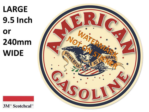 American Gasoline Sticker