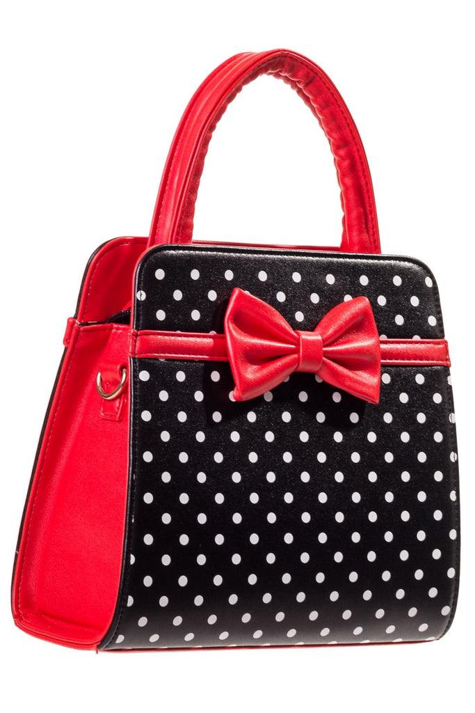 Carla Red Black and White Handbag