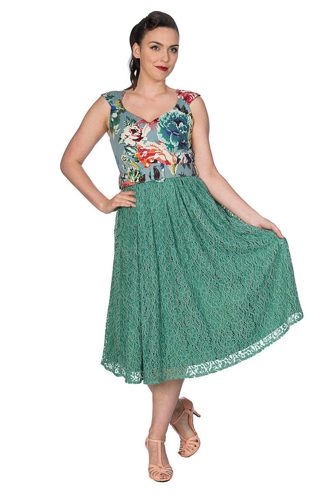 Green Lace Floral by Banned