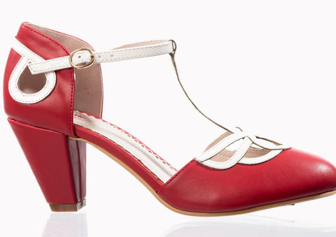Aimee Heeled Red