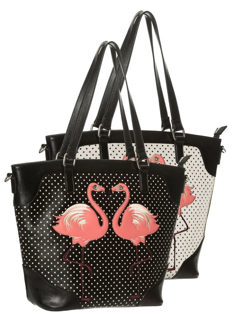 Blair Flamingo Tote Blk or Ivory