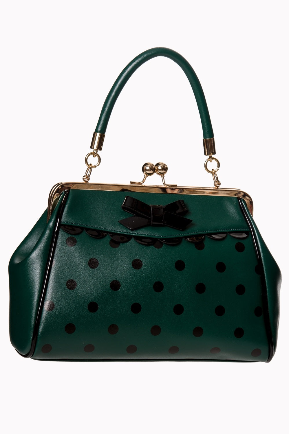 Crazy Little Thing Polka Dot Vintage Look Handbag By Banned