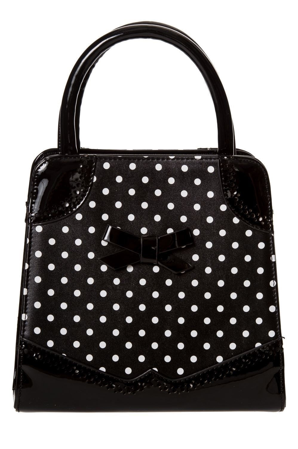 Black and White Polka Dots Vintage Look Handbag