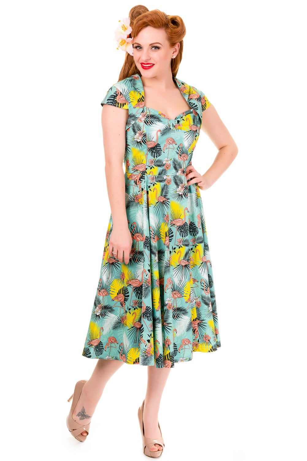 Wunderlust Flamingo Dress By  Banned