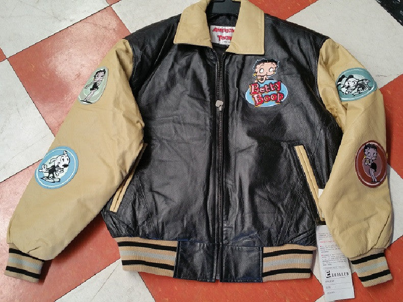 Vintage Style Betty Boop Leather Jacket