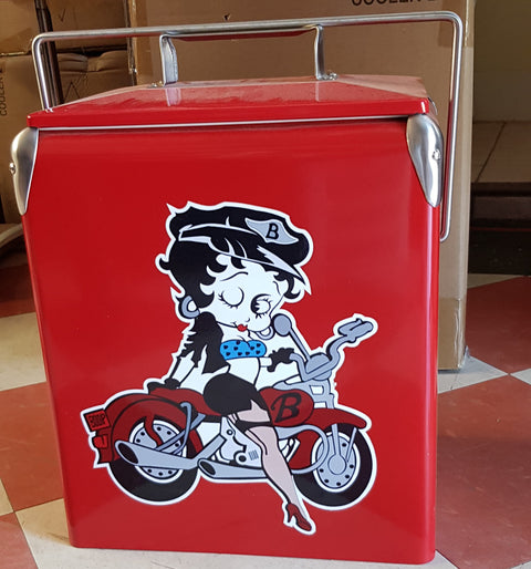 Betty Wink Biker Retro Ice Cooler
