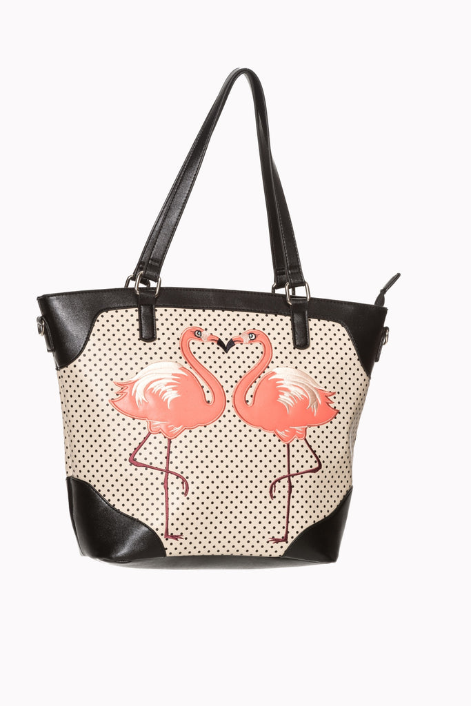 Flamingo Blair Tote Blk or Ivory