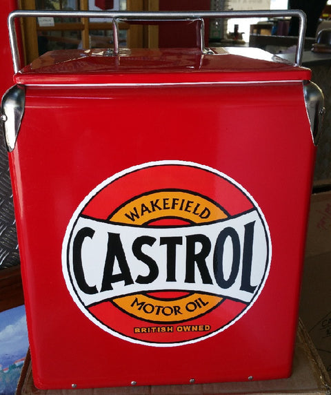Retro Cooler Castrol Red