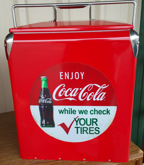 Retro Ice Cooler Coke Tyres