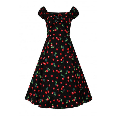 Dolores Cherry Print 50's Dress by Collectif