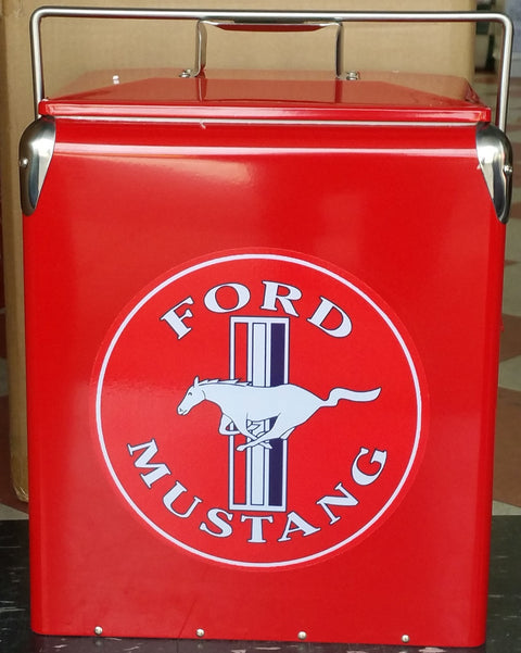 Retro Ice Cooler Ford Mustang